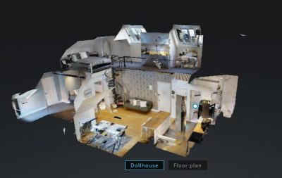digital floor plan 3D dollhouse